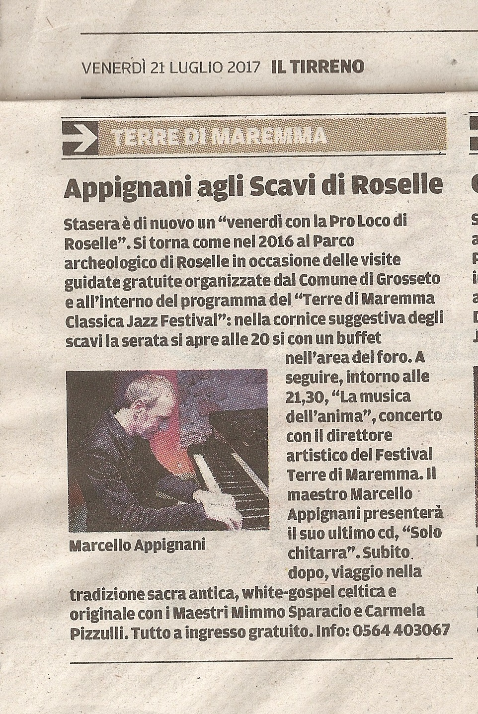 21 luglio Roselle Tirreno
